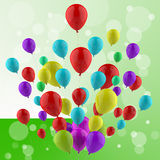 Floating Colourful Balloons Mean Cheerful Ceremony Royalty Free Stock Images
