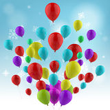 Floating Colourful Balloons Mean Spring Festival Stock Photography