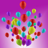 Floating Colourful Balloons Show Cheerful Party Stock Photography