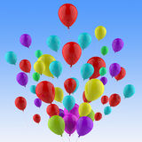 Floating Colourful Balloons Show Colourful Royalty Free Stock Image