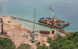 Floating construction platform Stock Images