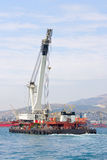 Floating crane Royalty Free Stock Photo