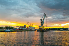 Floating crane Royalty Free Stock Photos