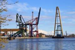 Floating crane Stock Photo