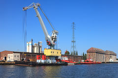 Floating crane Royalty Free Stock Photo