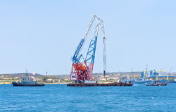 Floating crane Royalty Free Stock Photography