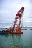 Floating crane Royalty Free Stock Images