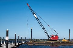 Floating crane Royalty Free Stock Image