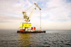Floating Cranes Royalty Free Stock Image