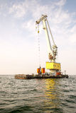 Floating Cranes Stock Photography