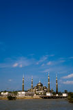 Floating crystal mosque. Grand beautiful floating crystal mosque Stock Image