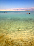 Floating on Dead Sea, Israel Royalty Free Stock Photos