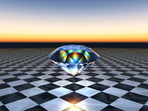 Floating Diamond Royalty Free Stock Images
