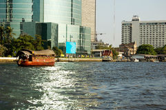 Floating Diner. Location:Chao Phraya River, Bangkok, Thailand Royalty Free Stock Photo