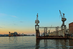 Floating dock Stock Photography