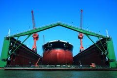 Floating dock. VLCC,30DWT ship Royalty Free Stock Photo
