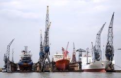 Floating dock. Rotterdam harbour Stock Photo