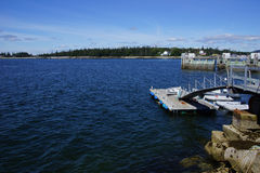 Floating dock and clear blue water Stock Photography