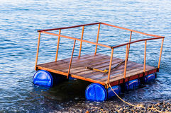 Floating Dock For Construction Purposes Royalty Free Stock Photos