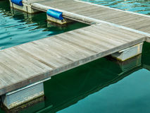 Floating dock in a marina Stock Photography
