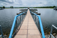 Floating dock marina Royalty Free Stock Photos