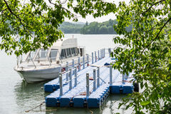The floating dock and yachts Stock Photo
