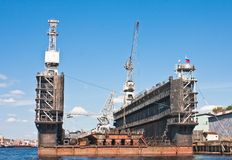 Floating dockyard Royalty Free Stock Images