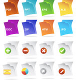 Floating Document Buttons Royalty Free Stock Image