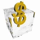 Floating dollar concept isolated Royalty Free Stock Photos