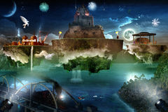 Floating Dream Islands Royalty Free Stock Image