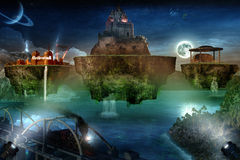Floating Dream Islands Royalty Free Stock Images