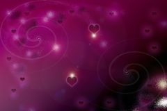 Floating and dreamy valentine background Royalty Free Stock Photography