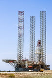 Floating drilling rig the offshore oil and gas production, docked in the port Royalty Free Stock Images