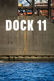 Floating dry dock. Massive submergible dock for ship inspection, repairs, etc Royalty Free Stock Photo