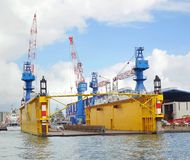 Floating Dry Dock in Kaohsiung Harbor Stock Photos