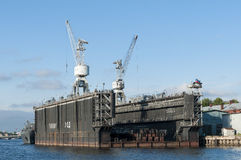 Floating drydock Saint Petersburg stock images