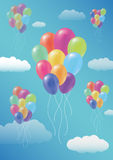 Floating Fancy Balloon Royalty Free Stock Images