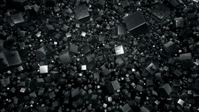 Floating Field of Metallic Debris Cubes