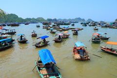 Floating fish farms vietnam Royalty Free Stock Images