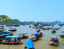 Floating fish farms vietnam Royalty Free Stock Photos