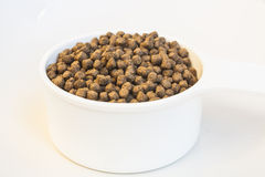 Floating Fish Feed Pellet Stock Photo