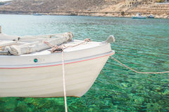 Floating fishing boat in Kalymnos island bay Royalty Free Stock Photos