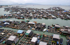 Floating fishing village Stock Photography