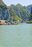 Floating fishing village Royalty Free Stock Image