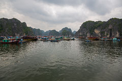 Floating fishing village Royalty Free Stock Photos