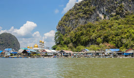 Floating fishing village in Phang Nga, Thailand Royalty Free Stock Photography