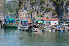 Floating fishing village Royalty Free Stock Photos