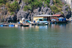 Floating fishing village Stock Image