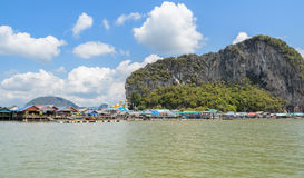 Floating fishing village in Thailand Stock Photography