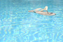 Floating Flip Flop Royalty Free Stock Photography